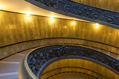 Escalier de Bramante, escaliers de sortie de Ville du Vatican Images libres de droits