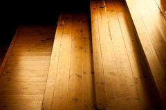 Escalier de Brown Photographie stock