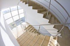 Escalier de bureau (instantané de fisheye) Image libre de droits