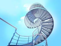 escalier de ciel à Images stock
