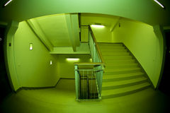 Escalier de Fisheye Photo stock
