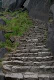 Escalier de granit Images libres de droits
