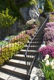 Escalier de jardin Photos stock