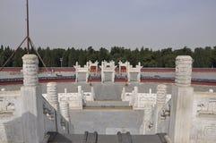 Escalier de l'autel circulaire de monticule du temple du Ciel dans Pékin photos libres de droits