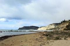 Escalier de la plage turque Agrigente photo libre de droits