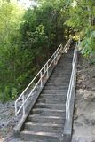 Escalier de montagne Photographie stock