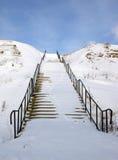 escalier de neige Photos libres de droits