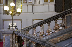 Escalier de Palazzo Arese Litta à Milan Images stock