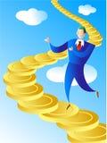 Escalier de pièce de monnaie illustration stock