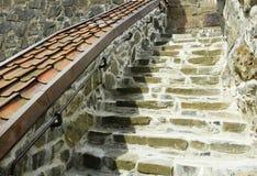 Escalier de pierre rugueuse Photos libres de droits