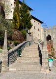 Escalier de sanctuaire de Castelmonte Images stock