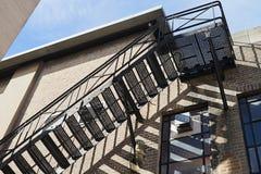 Escalier de sortie de secours Photographie stock