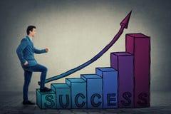 Escalier de succès de carrière Images libres de droits