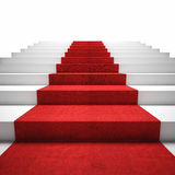 Escalier de tapis rouge Image stock