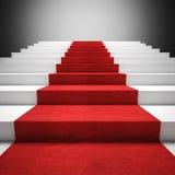 Escalier de tapis rouge Photographie stock libre de droits