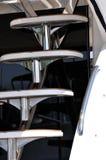 Escalier de yacht dans la forme décrite Photographie stock libre de droits