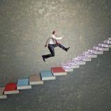 escalier du succès 3d Photos libres de droits