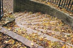 Escalier en automne photographie stock libre de droits