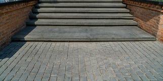 Escalier en béton et en pierre Photos libres de droits