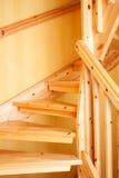 Escalier en bois Photos libres de droits