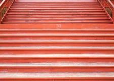 Escalier en bois dans le style de vintage Images stock