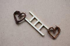 Escalier en bois de cerf de l'amour Photo stock