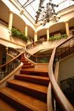 Escalier en bois grand Image libre de droits