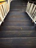Escalier en bois moderne Photos libres de droits