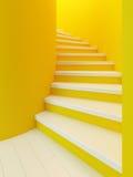 Escalier en bois spiralé, illustration de vecteur