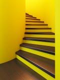 Escalier en bois spiralé, Image libre de droits