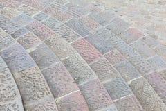 Escalier en pierre circulaire photos libres de droits