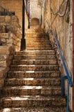 Escalier en pierre dans Zefat Photo stock