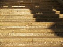 Escalier en pierre large Image stock