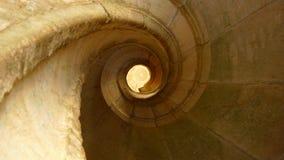 Escalier en pierre spiralé images libres de droits