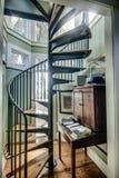 Escalier en spirale dans la maison Photos stock