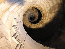 Escalier en spirale dans le dell'Ovo de Castel - Naples Images stock