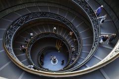 Escalier en spirale de Bramante, musée de Vatican, Ville du Vatican, Italie photographie stock libre de droits