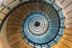 Escalier en spirale de phare Photo libre de droits