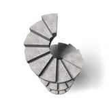 Escalier en spirale en béton, illustration 3D Image libre de droits