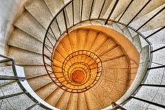 Escalier en spirale HDR photographie stock libre de droits