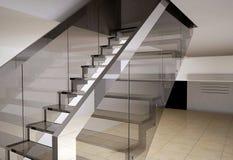 Escalier en verre Images libres de droits