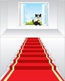 Escalier et fenêtre en nature Image stock