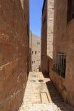 Escalier et rue étroite, quart juif Photos stock
