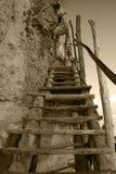 Escalier fabriqué à la main images stock