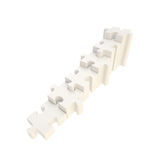Escalier fait de morceaux brillants de puzzle de puzzle Photo libre de droits