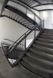Escalier Fisheye B/W Image libre de droits