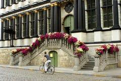 Escalier fleuri Photographie stock libre de droits