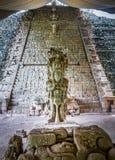 Escalier hiéroglyphique aux ruines maya - site archéologique de Copan, Honduras photo libre de droits
