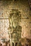 Escalier hiéroglyphique aux ruines maya - site archéologique de Copan, Honduras photos libres de droits