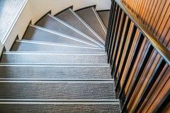 Escalier incurvé image libre de droits